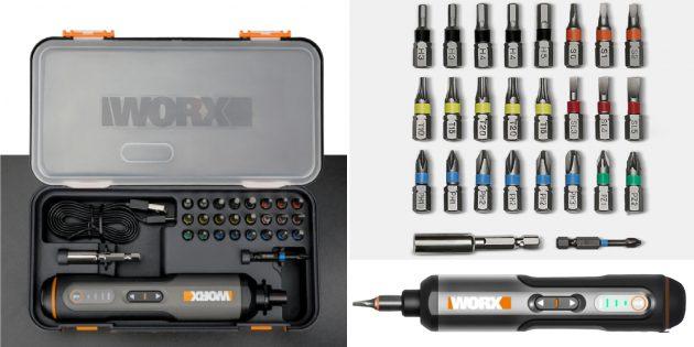 Аккумуляторная отвёртка Worx WX240