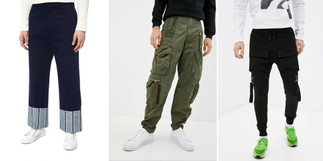 Модные мужские брюки — 2021: Брюки с интересными деталями
