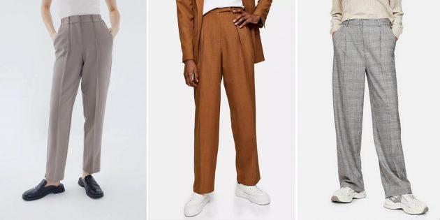 Модные женские брюки — 2021: Костюмные брюки