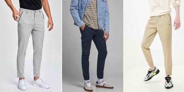 Модные мужские брюки — 2021: Укороченные брюки