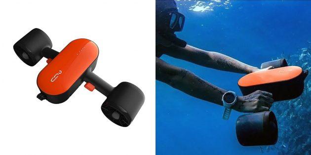 Товары для активного отдыха на воде: подводный скутер