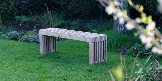 Как сделать скамейку без спинки из досок своими руками
