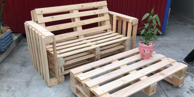 Как сделать скамейку из поддонов своими руками