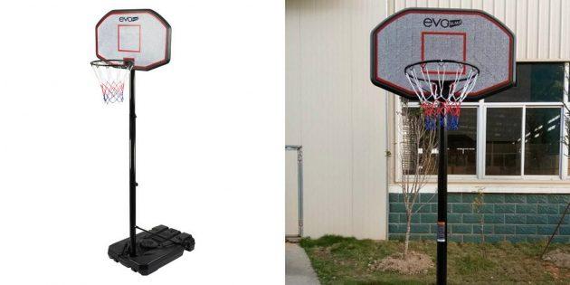 Что купить для развлечений на загородном участке: баскетбольная стойка