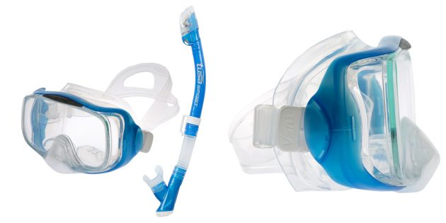 Товары для активного отдыха на воде: комплект для подводного плавания