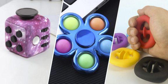 6 антистресс-игрушек, которые помогут справиться с волнением и развлекут