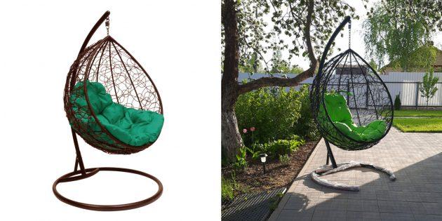 Товары для отдыха и развлечений на даче: подвесное кресло
