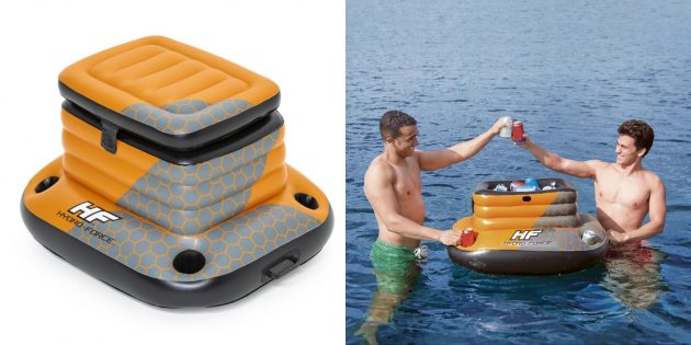 Товары для активного отдыха на воде: плавающий холодильник
