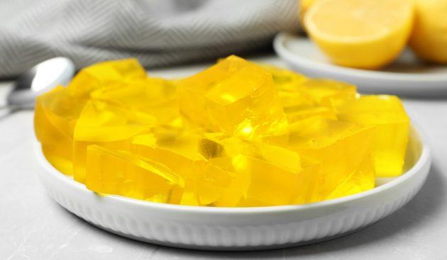 Алкогольное желе с лимоном