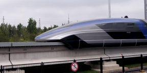 В Китае показали первый поезд на магнитной подушке, который разгоняется до 600 км/ч