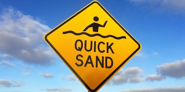 Выживание в дикой природе: чтобы выжить в зыбучих песках, надо увеличить площадь контакта