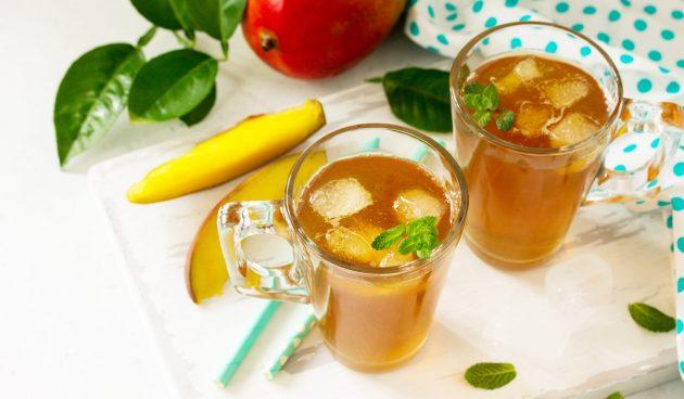 Холодный чай с манго