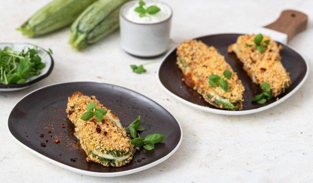 Хрустящие кабачки с сыром в духовке
