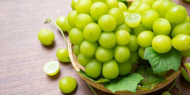 Продукты, содержащие антиоксиданты: виноград
