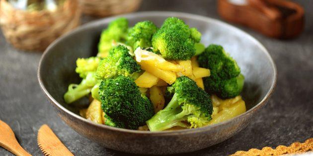 Продукты, содержащие антиоксиданты: брокколи
