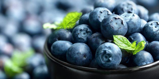 Продукты, содержащие антиоксиданты: черника