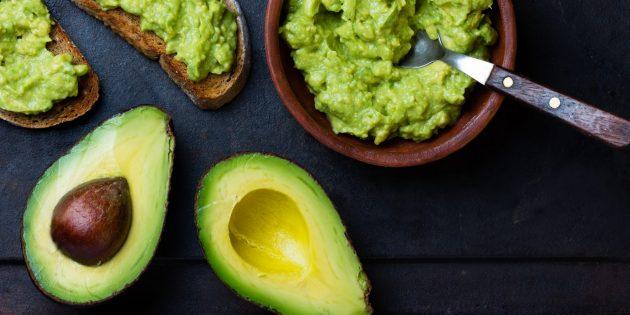 Продукты, содержащие антиоксиданты: авокадо