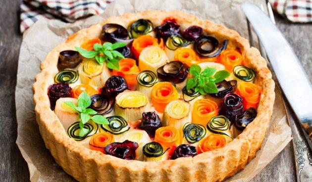 Летний тарт с овощами