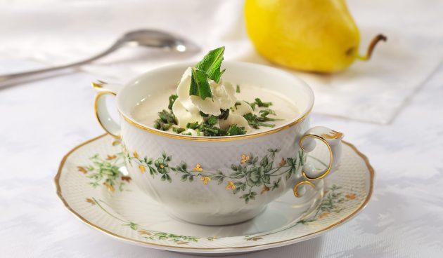 Холодный суп с грушами