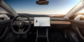 Электрокары Tesla получили поддержку русского языка