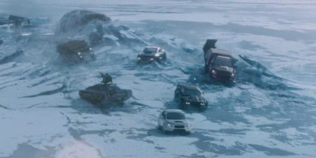 Кадр из фильма «Форсаж-8»