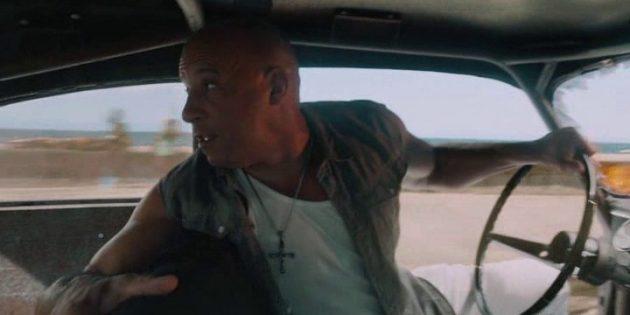 Трюки во время гонок из фильма «Форсаж-8»