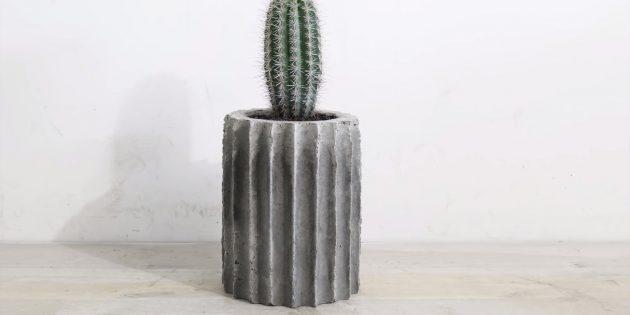 Как сделать вазон из бетона в гибкой форме из трубок