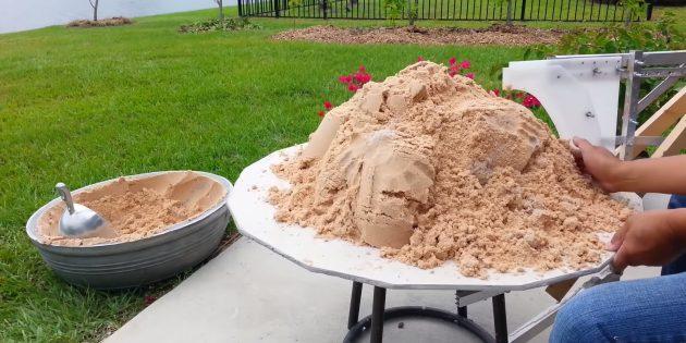 Как сделать вазон из бетона по гончарной технике своими руками: насыпьте песок