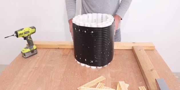 Как сделать вазон из бетона в гибкой форме из трубок своими руками: продолжайте