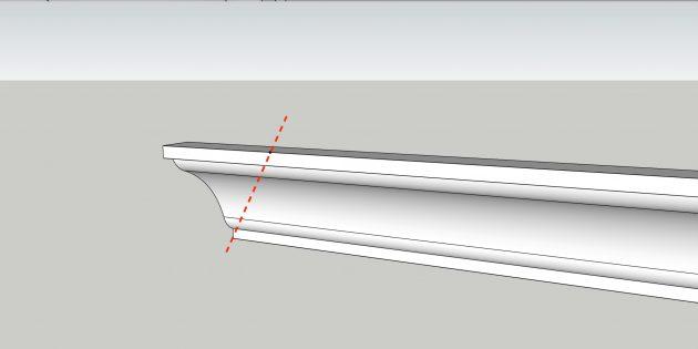 Как клеить потолочный плинтус: подрежьте по отметкам