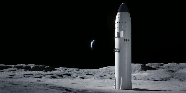 Луна может служить перевалочным пунктом для дальних полётов