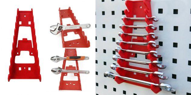 Товары для наведения порядка в гараже: Настенный держатель-органайзер для гаечных ключей