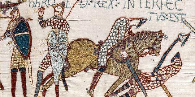 Норманнский рыцарь убивает Гарольда Годвинсона