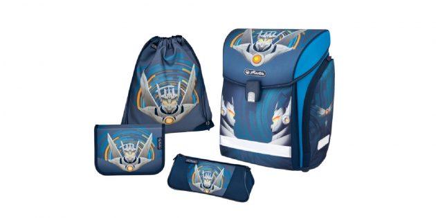 Школьный рюкзак с дополнительными аксессуарами