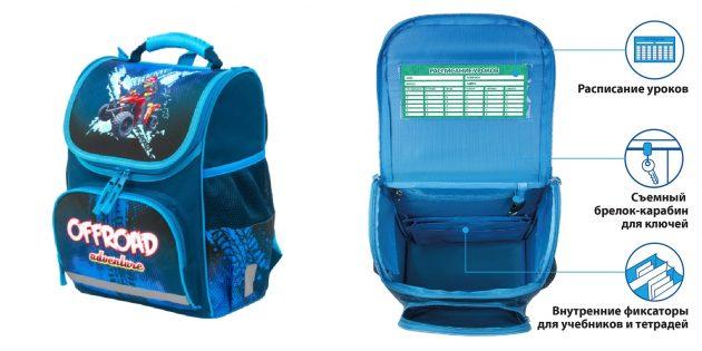 Школьный рюкзак с эргономичной спинкой