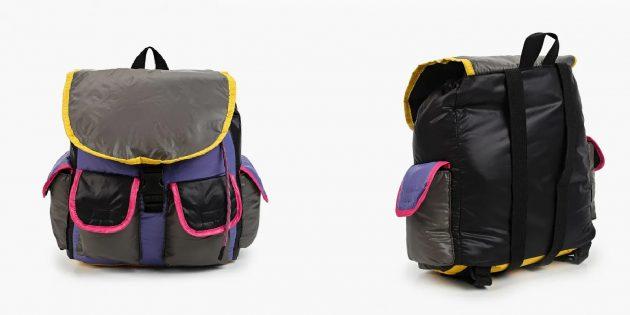 Школьный рюкзак в стиле колорблок