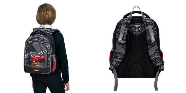 Школьный рюкзак с противооткидными ремнями