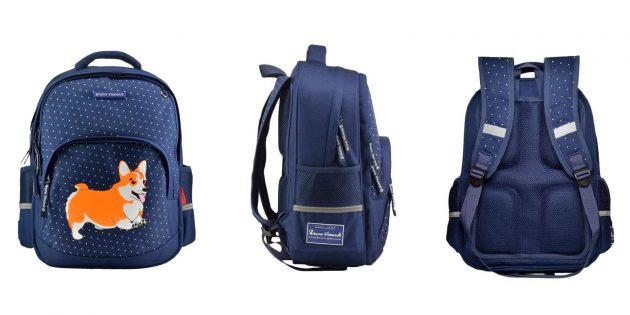 Школьный рюкзак с двумя отделениями