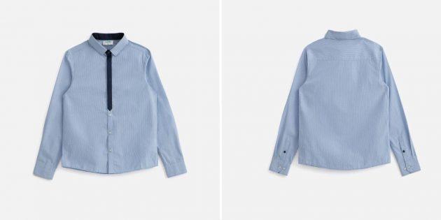 Школьная сорочка в полоску