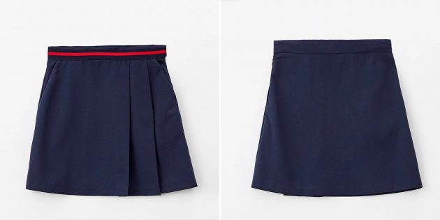 Школьная юбка А-силуэта