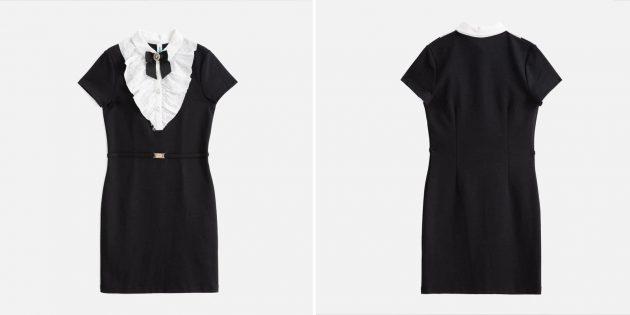 Школьное платье с короткими рукавами