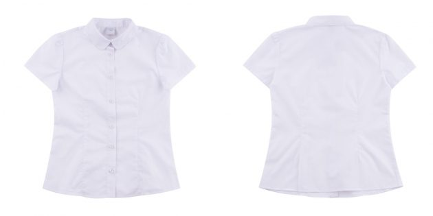 Школьная белая блузка