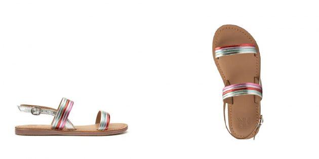 Летняя обувь: кожаные сандалии для девочек