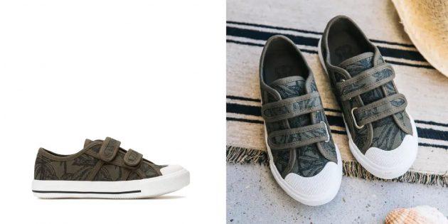 Летняя обувь: кеды с принтом для мальчиков