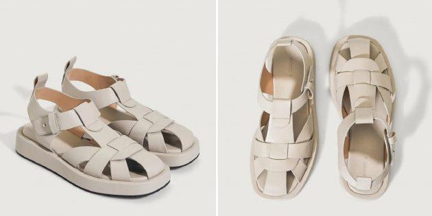 Летняя обувь: женские сандалии с ремешками