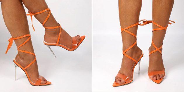 Летняя обувь: женские босоножки на шпильке