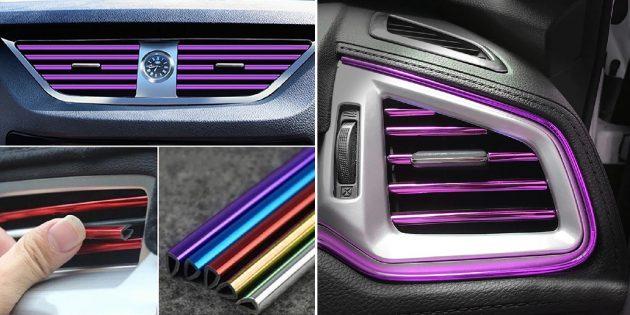 Товары для тюнинга автомобиля: накладки на дефлектор
