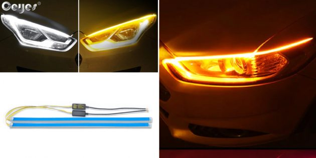 Товары для тюнинга автомобиля: светодиодные ленты на фары
