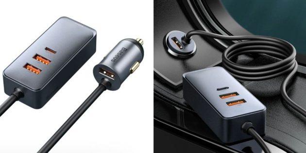 Распродажа AliExpress: скидка на автомобильный USB‑хаб