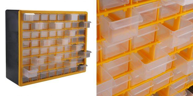 Товары для наведения порядка в гараже: Система хранения с выдвижными ящиками